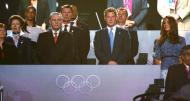 Princesa Ana, Jacques Rogge, Presidente do Comité Olímpico Internacional, Príncipe Harry e Kate Middleton - Cerimónia de encerramento dos Jogos Olímpicos Londres2012 Foto: Reuters
