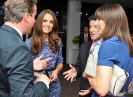 David Cameron, Sebastian Coe, Kate Middleton e Samantha Cameron - Cerimónia de encerramento dos Jogos Olímpicos Londres2012 Foto: Reuters