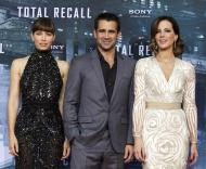 Jessica Biel, Colin Farrell e Kate Beckinsale - Antestreia «Total Recall» em Berlim - Foto: Reuters