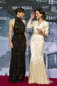 Kate Beckinsale, Jessica Biel  - Antestreia «Total Recall» em Berlim - Foto: Reuters