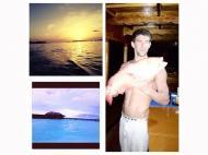 As férias de Michael Phelps (foto Twitter)