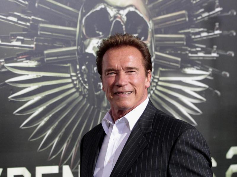 Arnold Schwarzenegger na antestreia de «Os Mercenários 2» em Hollywood (Reuters)