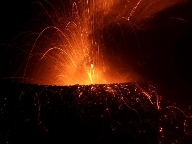 Erupção do vulcão Tungurahua [Foto: Reuters]