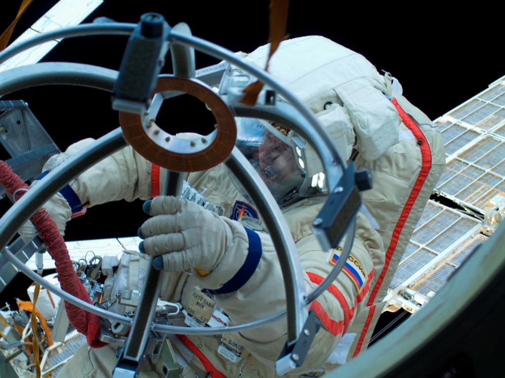 A trabalhar no espaço