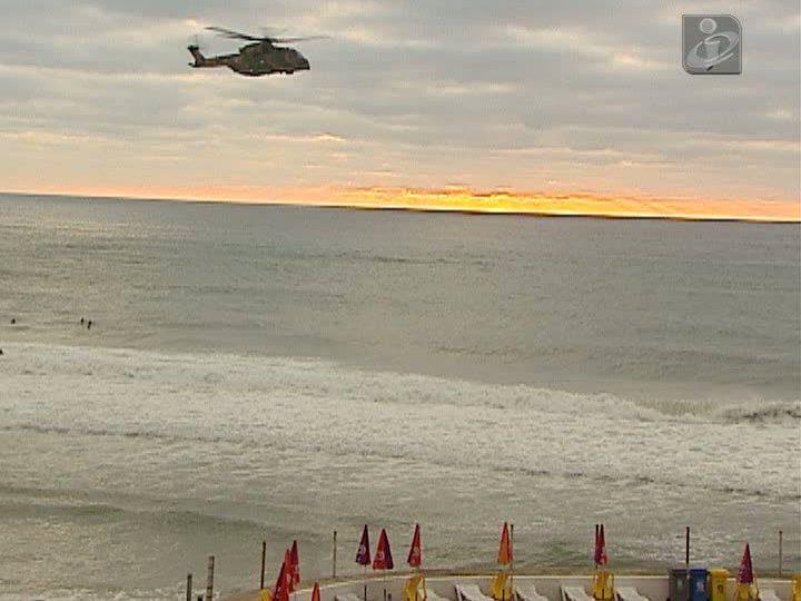 Helicóptero na Praia Grande
