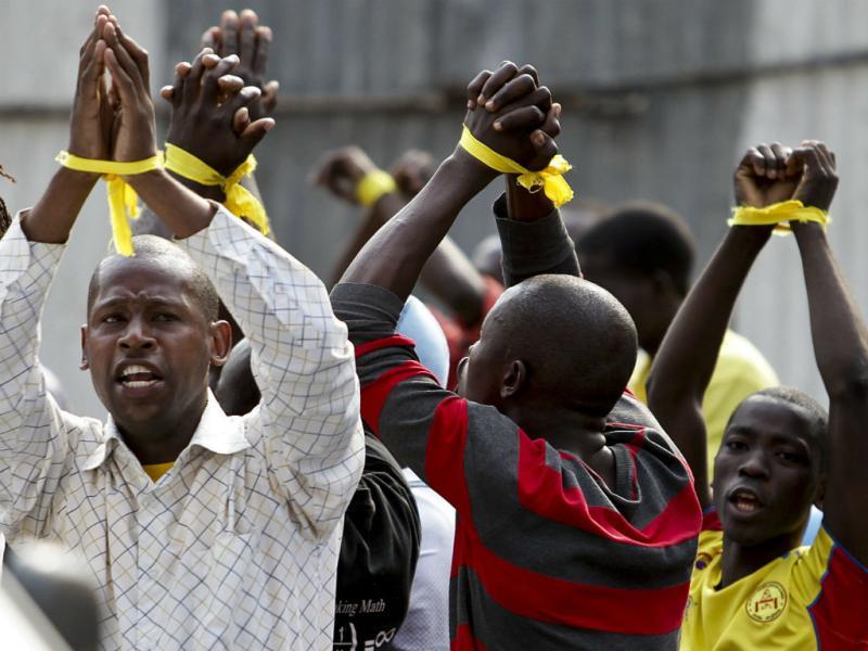 Polícia detém manifestantes em Angola (Paulo Novais/Lusa)