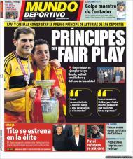 El Mundo Deportivo: Xavi e Casillas, príncipes das Astúrias