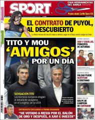 Sport: Tito e Mou «amigos» por um dia