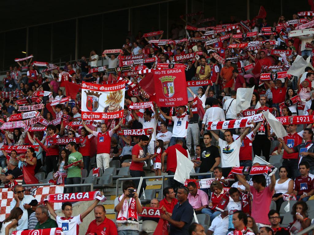 Adeptos do SC Braga