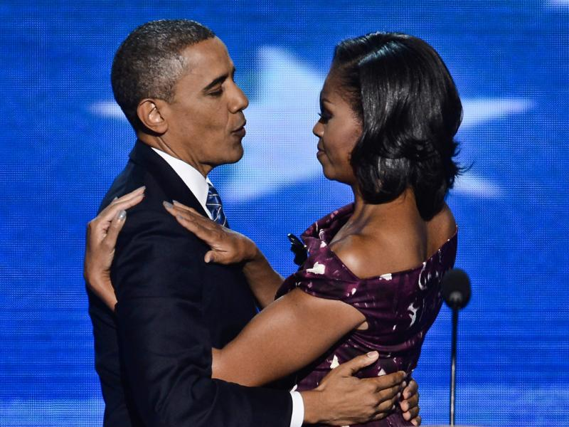 Barack Obama e Michelle na Convenção do Partido Democrata (Lusa)