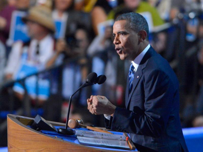 Barack Obama na Convenção do Partido Democrata (Lusa)