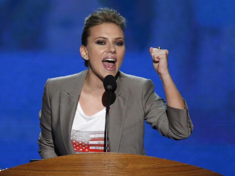 Scarlett Johansson apoia Obama na Convenção Democrata (Reuters)