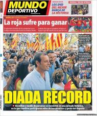 El Mundo Deportivo: Rosell na Diada, marcha pela independência da Catalunha