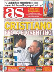 AS: Cristiano feio com Florentino