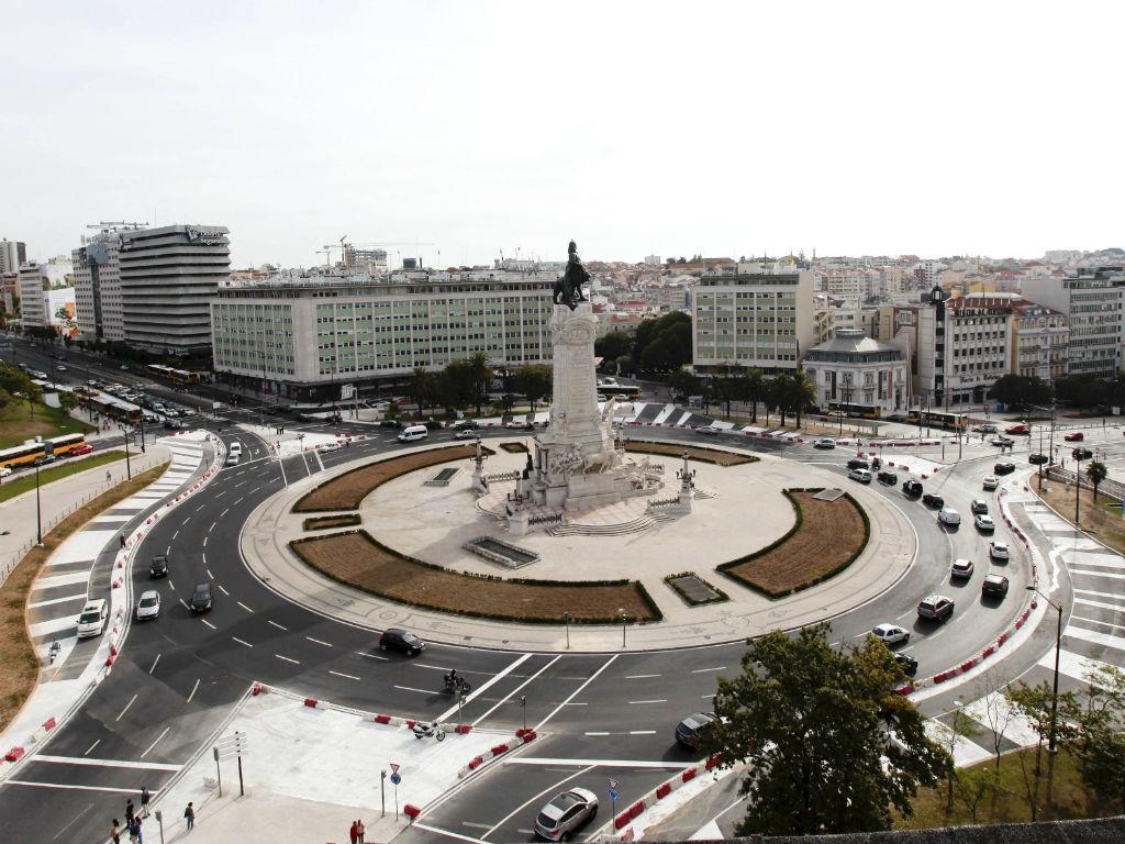 Rotunda do Marquês, em Lisboa (Manuel Almeida/Lusa)