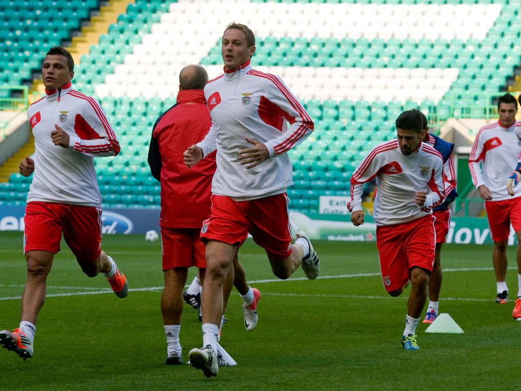 Treino do Benfica em Glasgow