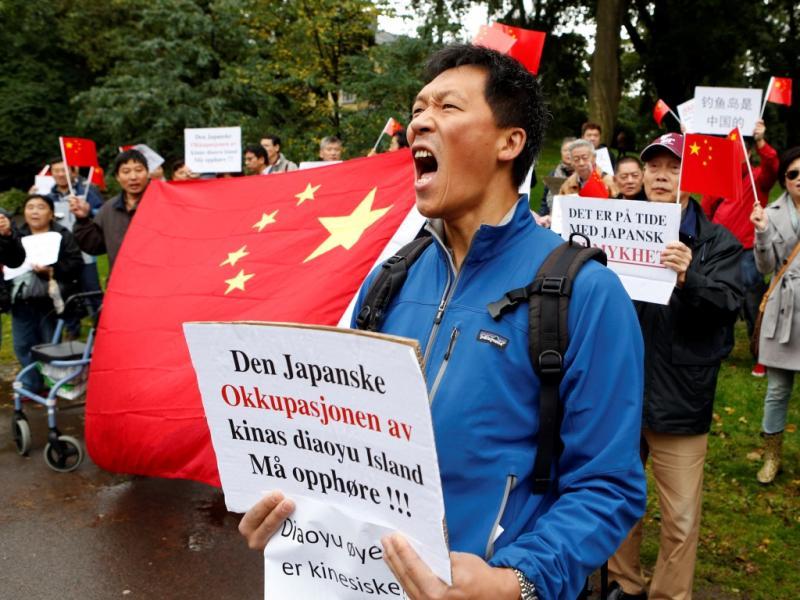 Protestos chineses contra o Japão (Reuters)