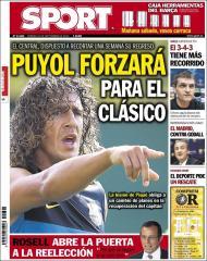 Sport: Puyol quer forçar para o Real Madrid