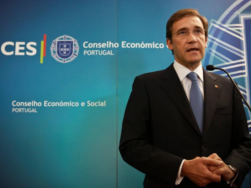 Passos Coelho na Concertação Social (Lusa)