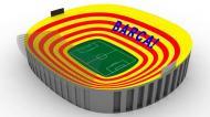 Camp Nou vira bandeira da Catalunha