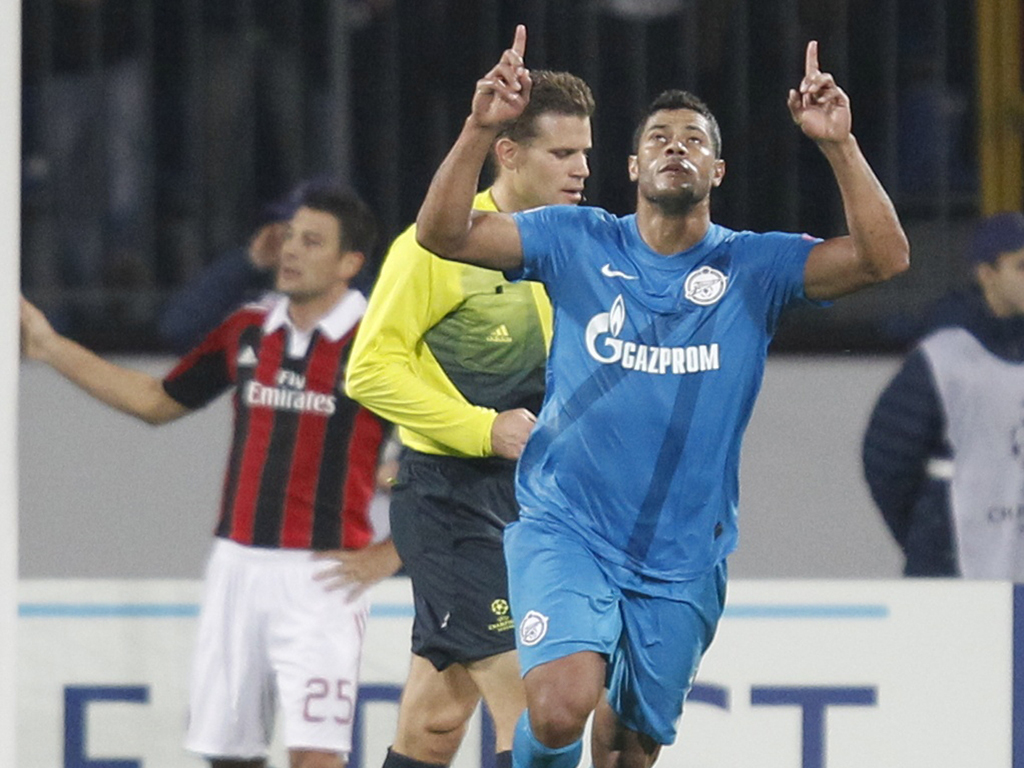 Zenit St. Petersburg vs A.C.Milan (Reuters)
