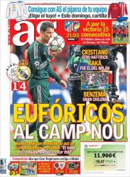 AS: o Real eufórico no Camp Nou depois da Champions