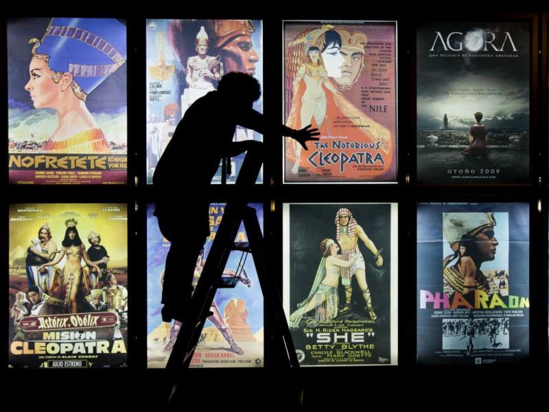 Acessórios usados em filmes de Hollywood sobre o Egito estão na Holanda em exposição (Foto Agência Lusa)