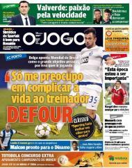 O Jogo: Defour quer «complicar a vida» ao treinador
