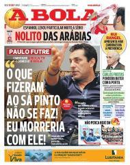 A Bola: Futre em defesa de Sá Pinto