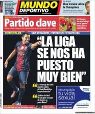 Mundo Deportivo: Xavi e a Liga bem encaminhada