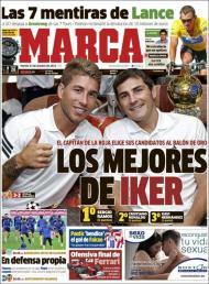 Marca: os melhores de Iker são Ramos, CR e Xavi