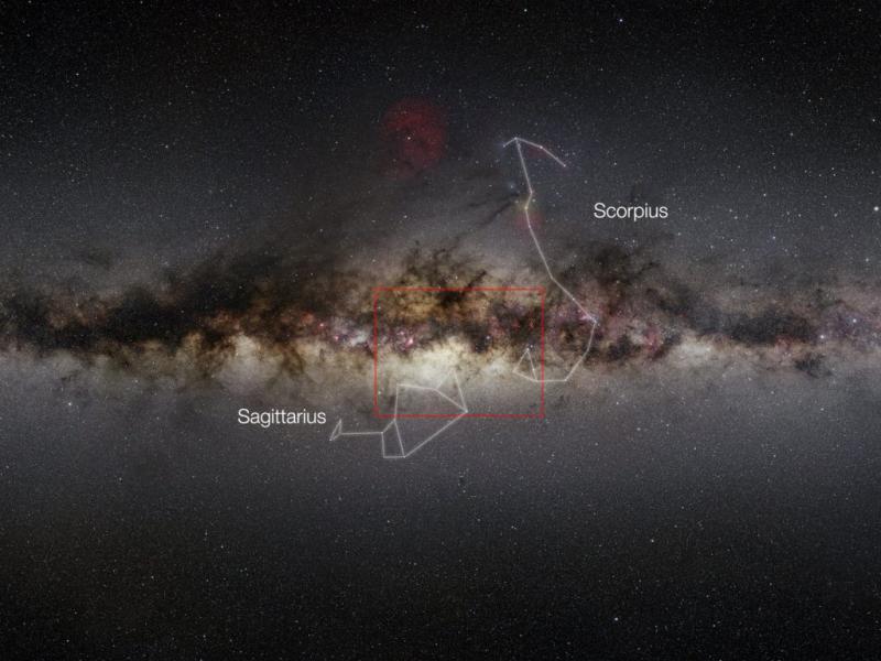 Via Látea pelo telescópio Vista (Foto ESO/EPA/VVV)