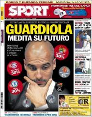 Sport: Guardiola medita sobre o futuro