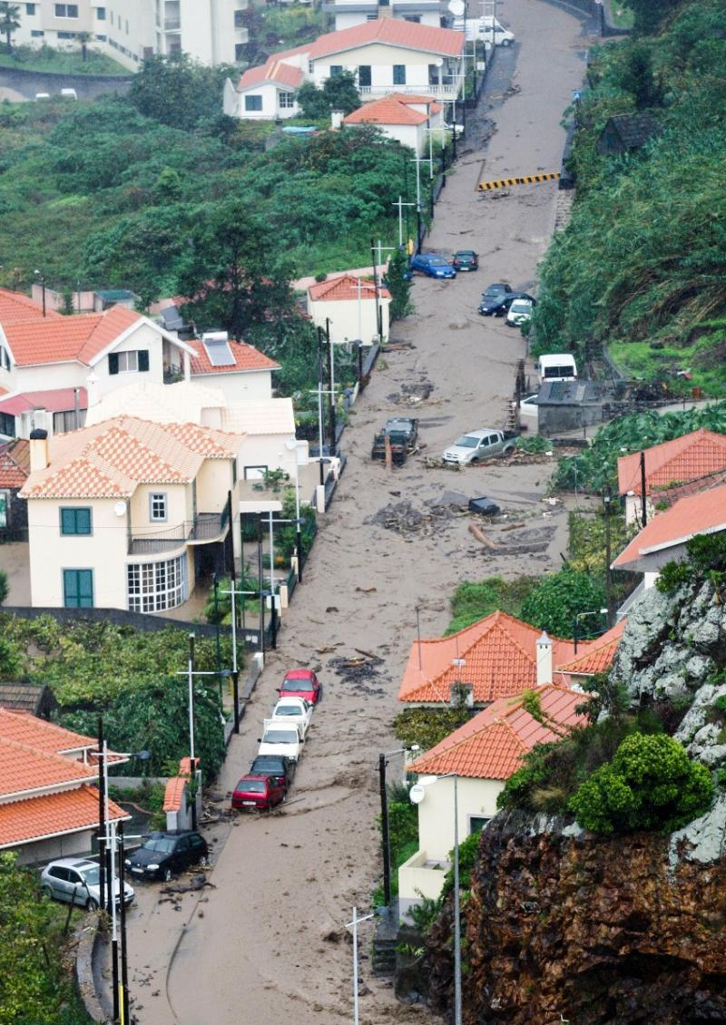 Mau tempo na Madeira pelo segundo dia (Lusa)