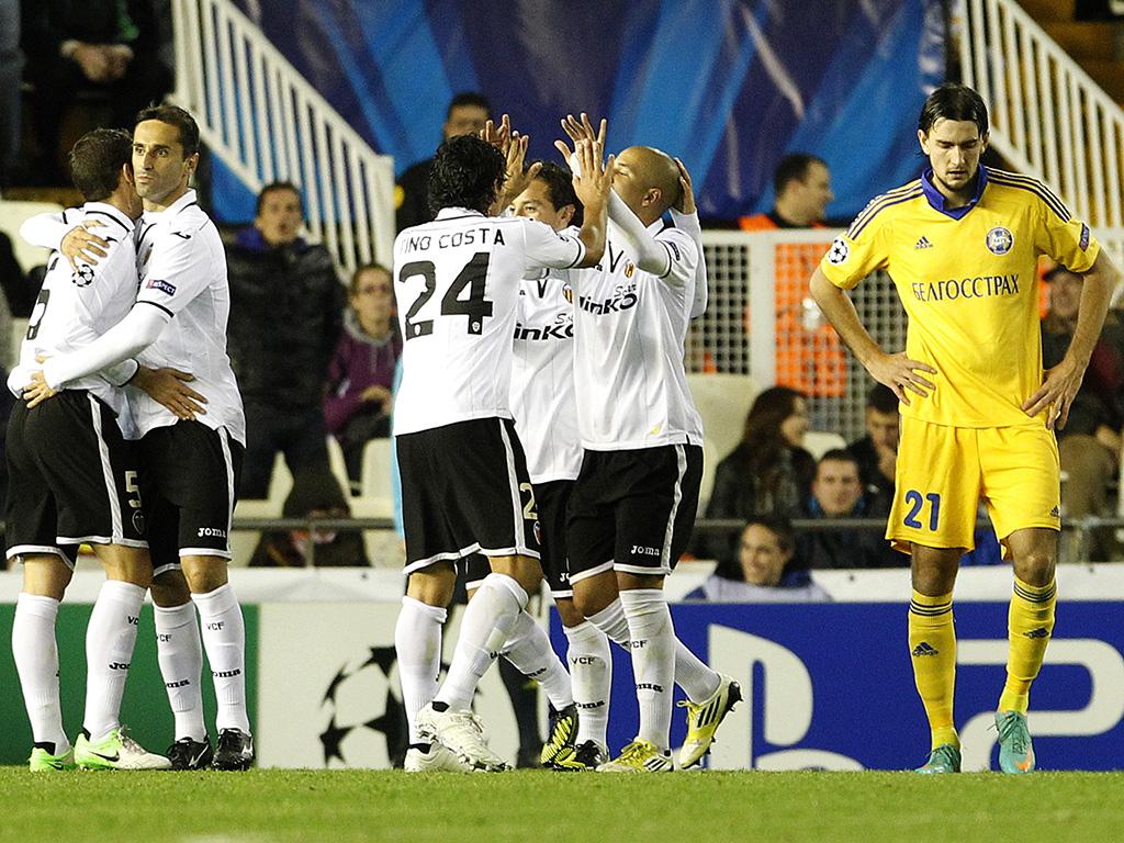 Valencia vs BATE Borisov (EPA)