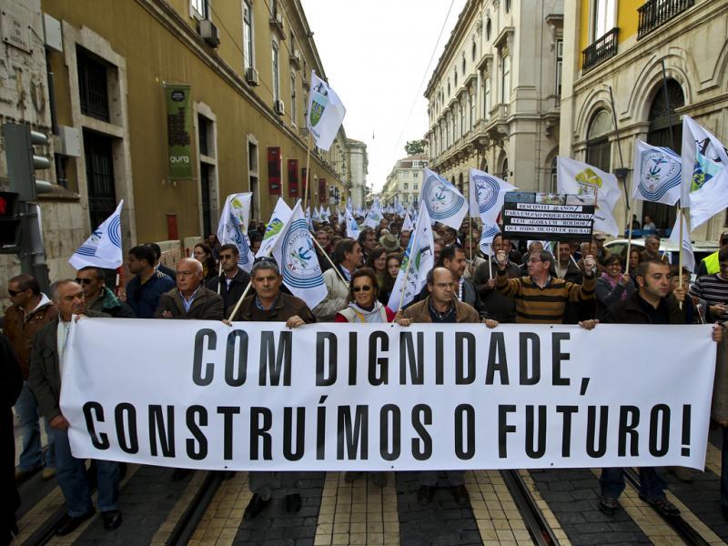 Militares em protesto em Lisboa (Lusa/Mário Cruz)