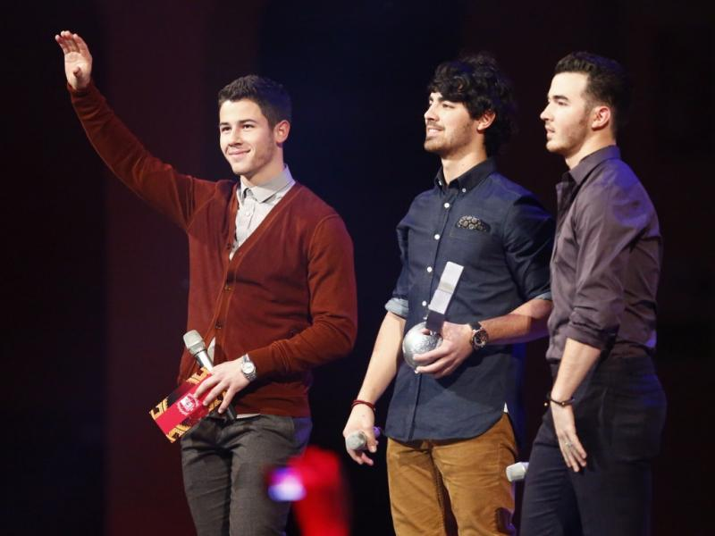 Jonas Brothers nos MTV Europe Music Awards 2012 (Reuters)