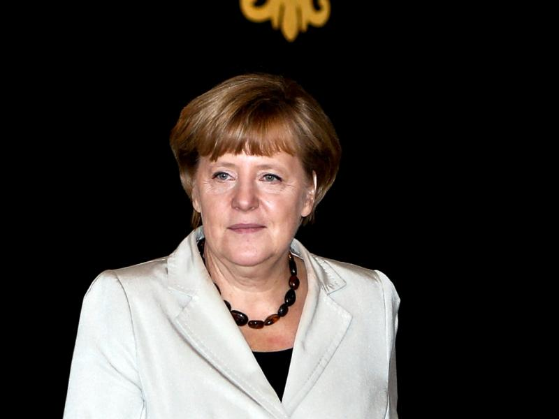 Merkel reúne-se com Cavaco (foto Lusa)