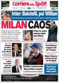 Corriere dello Sport: caos no Milan, Pato ameaçado no carro