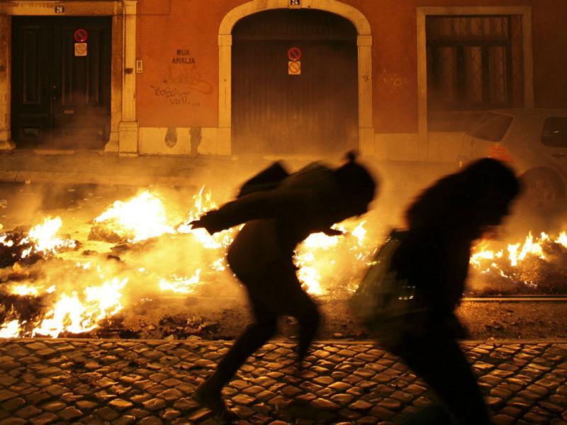 Greve geral: confrontos entre polícia e manifestantes (Manuel de Almeida/Lusa)
