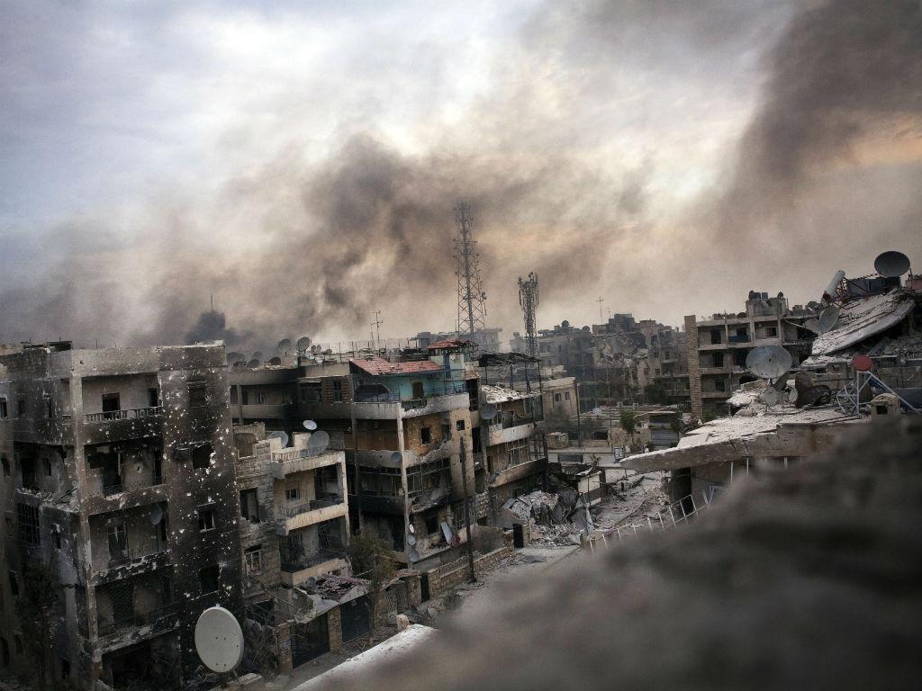 As ruínas de Assad