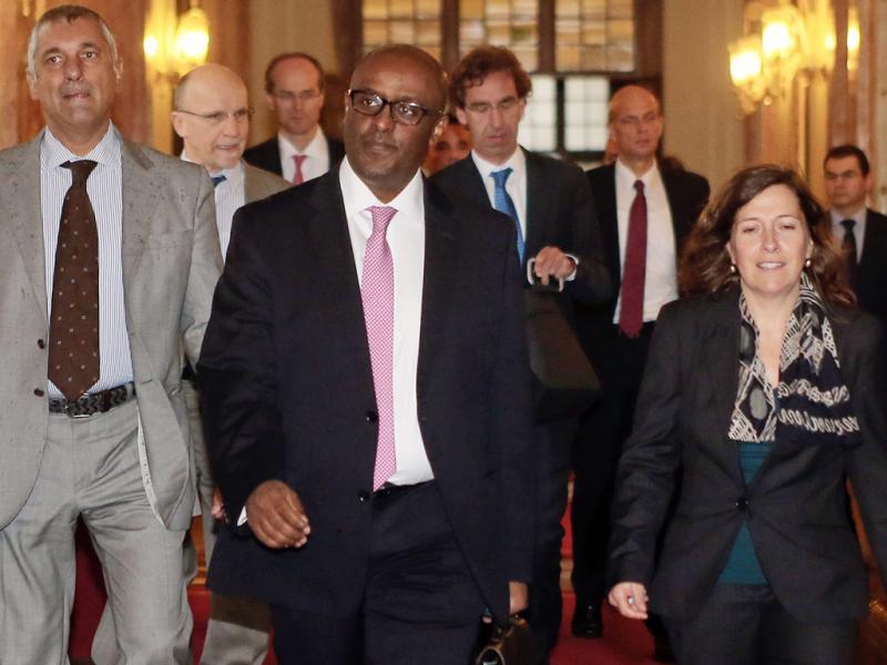 Membros da Troika no Parlamento (Lusa/EPA)