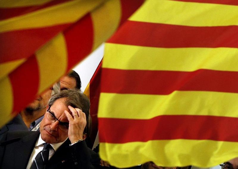 Artur Más, Presidente da Catalunha (EPA/Alberto Estevez)