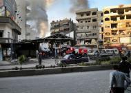 Síria: duplo atentado em Damasco (EPA/Sana)