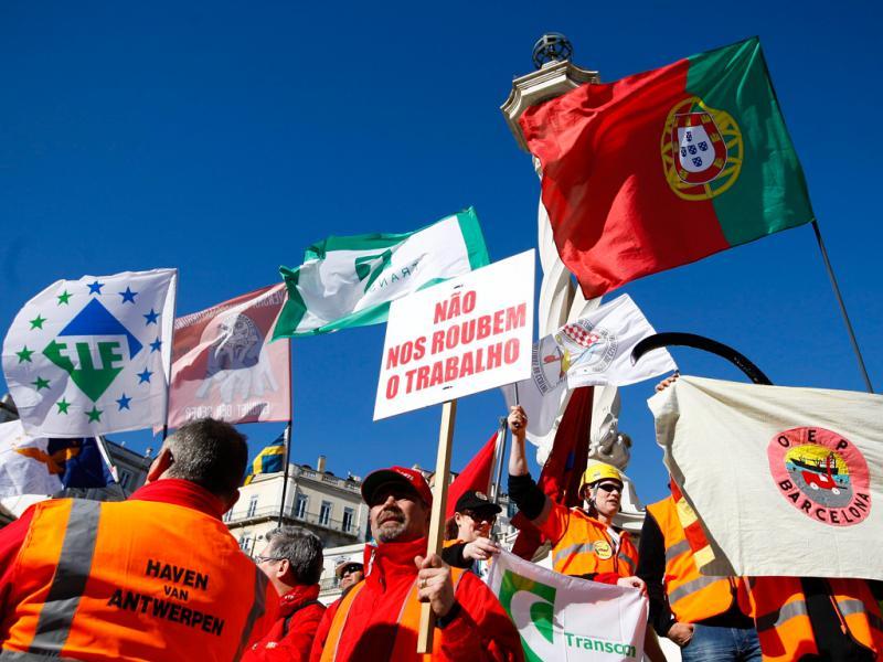 Manifestação dos estivadores (TIAGO PETINGA/LUSA)