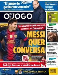 O Jogo: Messi quer conversa