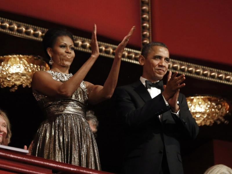 Michelle e Barack Obama na gala The Kennedy Center Honors (Reuters)