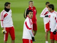 Benfica a treinar no Camp Nou