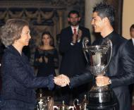 Rainha Sofia e Cristiano Ronaldo - Prémio Nacional do Desporto em Madrid Fotos: Lusa