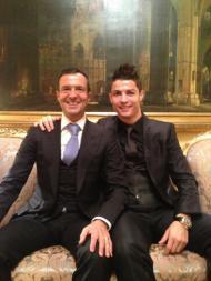 Jorge Mendes e Cristiano Ronaldo - Prémio Nacional do Desporto em Madrid Fotos: Facebook